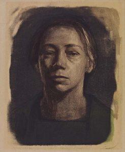 Käthe-Kollwitz-zelfporrtret-1904-Parijs-collectie-KKMK