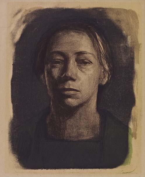 Käthe-Kollwitz-zelfportret-1904-Parijs-collectie-KKMK