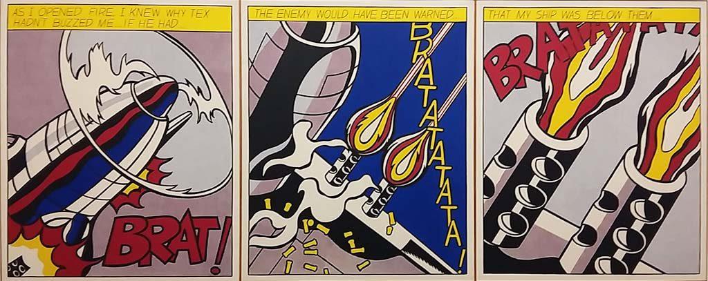 e-Stijl-in-het-Stedelijk_As-I-Opened-Fire-1964-Roy-Lichtenstein_foto-Wilma-Lankhorst.