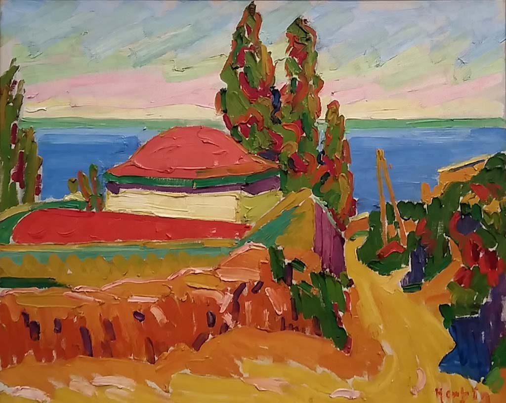 Museum Barberini Landschap-op-Corsica-1907-door-Auguste-Herbin-1882-1960-foto-Wilma-Lankhorst