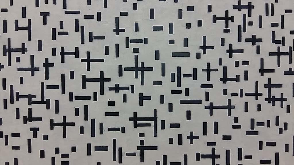 blog Piet Mondriaan Compositie in lijn (tweede staat) 1916-1917 foto Wilma Lankhorst