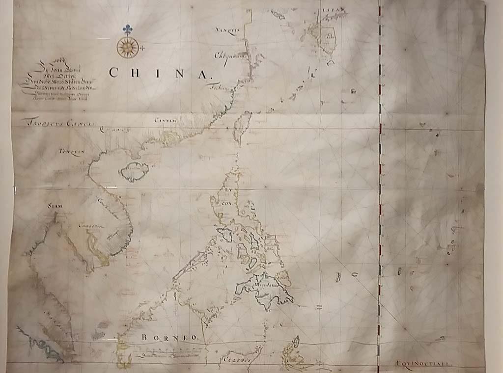 Barbaren en Wijsgeren Kaart-van-China-en-de-Javazee-1666-door-Johan-Blaue-Coll-Maritiem-Museum-Rotterdam-foto-wilma-Lankhorst
