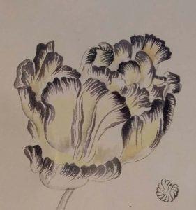 Evelyn-Taocheng-Wang-tulp-voor-tulpentuin-Vanitas-foto-Wilma-Lankhorst