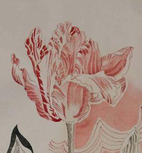 Evelyn Taocheng Wang tulp-voor-tulpentuin-Vanitas-foto-Wilma-Lankhors