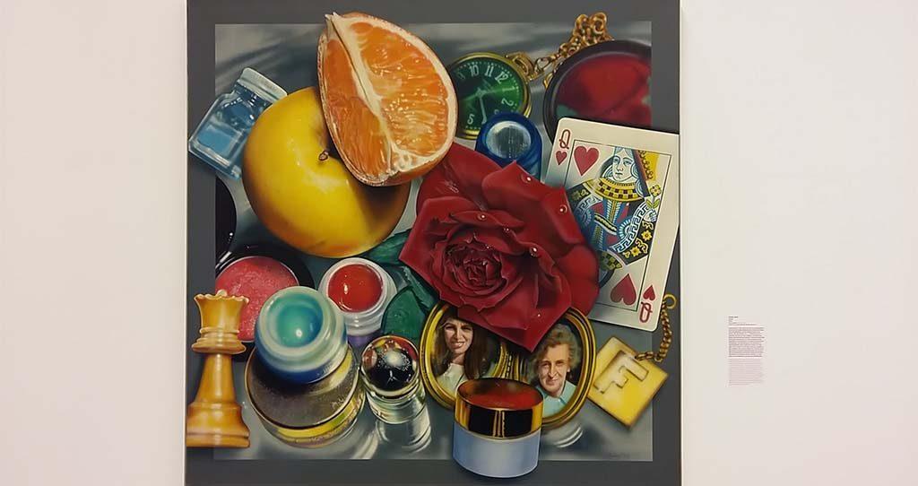 Schilderijen om van te smullen- Hyperrealisme Queen-1976-@Audrey-Flack-Kunsthal-Rotterdam-foto-Wilma-Lankhorst.