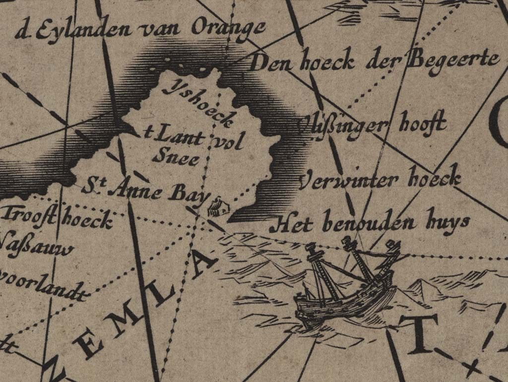 Wereldkaart-Joan-Blaeu-detail-Nova-Zembla-foto-Wilma-Lankhorst.