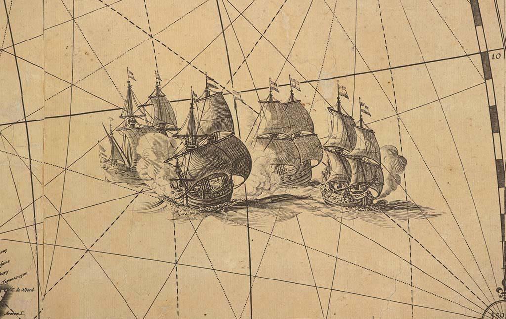 Wereldkaart van Blaeu zeeslag-©-Scheepvaartmuseum-Amsterdam