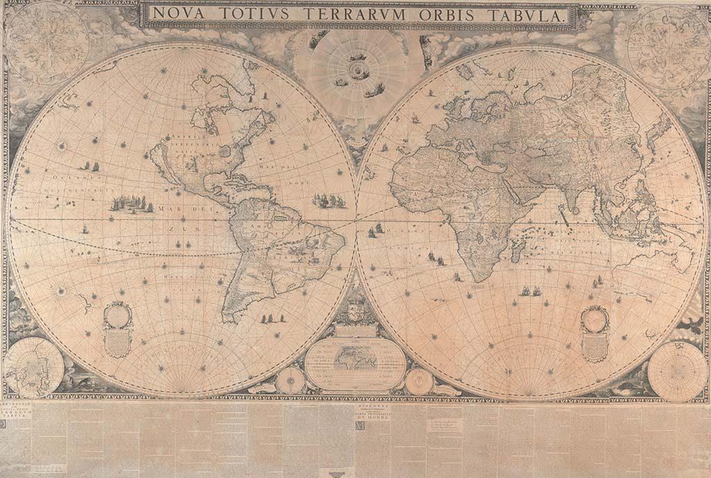 Wereldkaart van Blaeu totaal-©-Scheepvaartmuseum-Amsterdam.