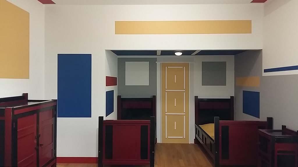 Architectuur-en-Interieur-Gemeentemuseum-Den-Haag-slaapkamer-zonen-Cor-Bruynzeel-foto-Wilma-Lankhorst.