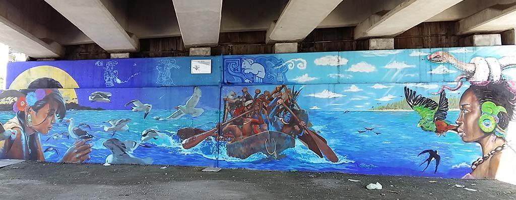 Cancun-street-art-viaduct-Joben-Mario-Mozko-Mexicaanse-geschiedenis-foto-Wilma-Lankhorst