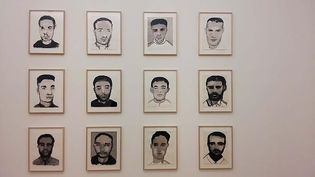 Migratie in de kunst Young-Men-2003-2006-@Marlene-Dumas-coll-Stedelijk-foto-Wilma-Lankhors
