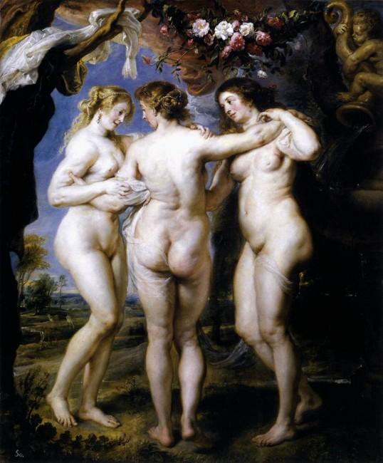 Peter-Paul-Rubens-de-drie-gratien-1623-coll. Prado Madrid
