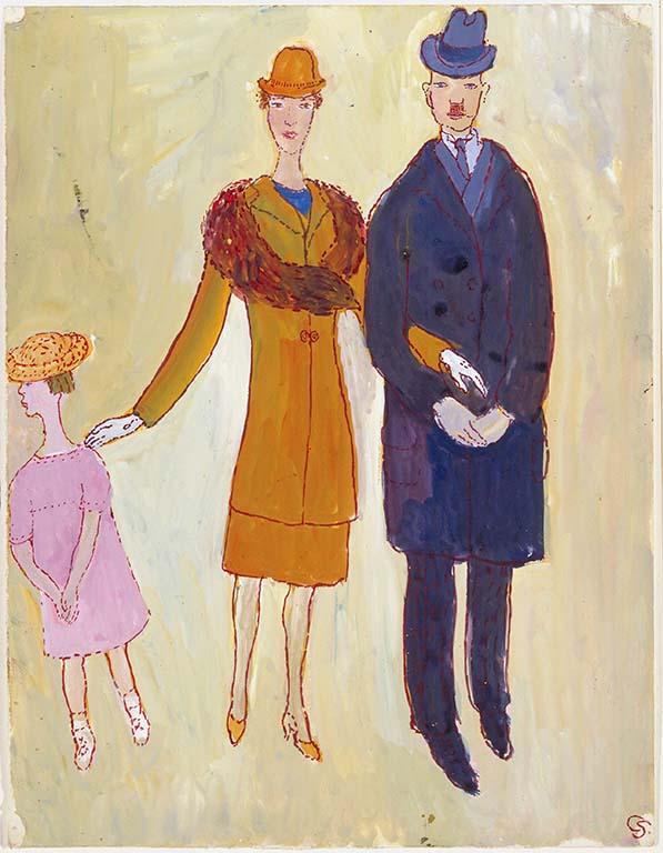 Charlotte Salomon Charlotte-met-haar-ouders-1940-1942.-Collectie-Joods-Historisch-Museum-Amsterdam-©-Stichting-Charlotte-Salomon