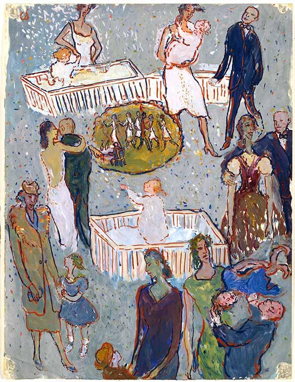 Charlotte-Salomon-Leven-of-Theater-scnes-uit-haar-kinderleven-1940-1942.-Collectie-Joods-Historisch-Museum-Amsterdam-©-Stichting-Charlotte-Salomon