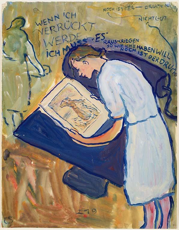 Charlotte-Salomon-Charlotte-tekent-haar-levensverhaal-1940-1942.-Collectie-Joods-Historisch-Museum-Amsterdam-©-Stichting-Charlotte