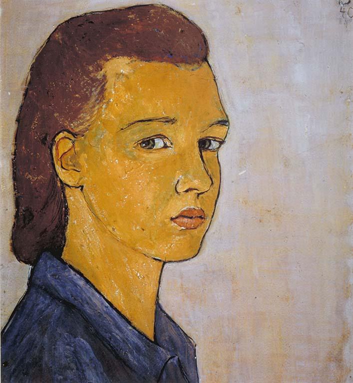 Charlotte Salomon zelfportret_1940Joods-Historisch-Museum-AMS