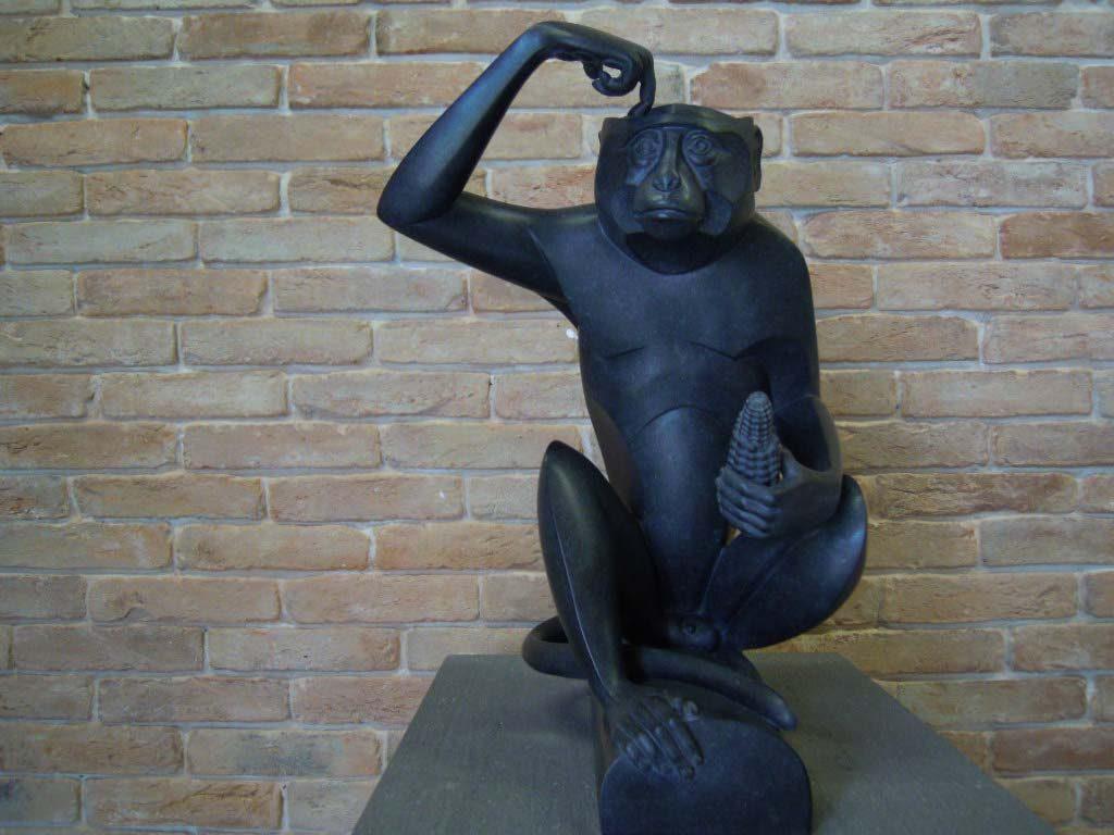 Damien-Hirst-waar-of-niet-waar-de-aap-vraagt-het-zich-af-foto-Wilma-Lankhorst.