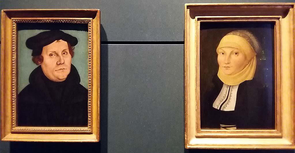 Luther-portret-Luther-en-zijn-vrouw-Katharina-door-werkplaats-Cranach-Lutherhuis-Wittenberg-foto-Wilma-Lankhorst