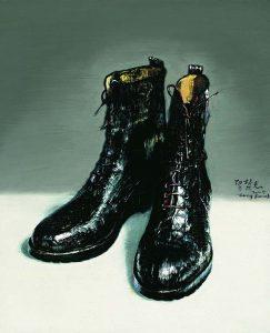 Zeng Fanzhi Boots-2009-op-basis-van-schoenen-Vincent-van-Gogh-1868