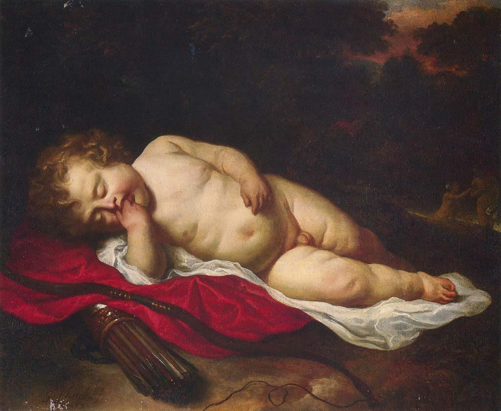 Rembrandt-huis-Govert-flinck-slapende-cupido-1639-particuliere-collectie
