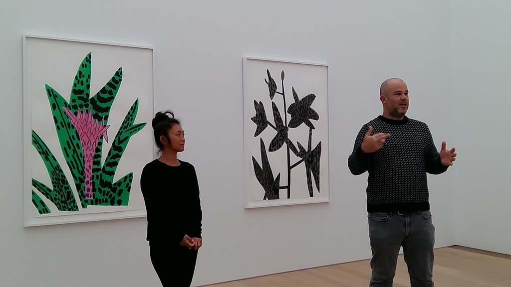 Shio-Kusaka-en-Jonas-Wood-zaal-2-botanische-clippings-Museum-Voorlinden-foto-Wilma-Lankhorst.