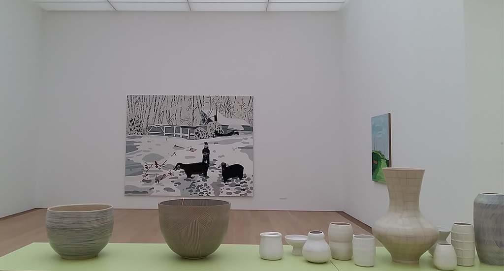 Shio-Kusaka-en-Jonas-Wood-zaal-5-Winterlandschap-en-vazen-Museum-Voorlinden-foto-Wilma-Lankhorst.