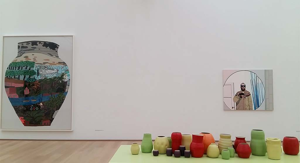 Shio-Kusaka-en-Jonas-Wood-zaal-6-Jonas-Wood-vazen-Museum-Voorlinden-foto-Wilma-Lankhorst
