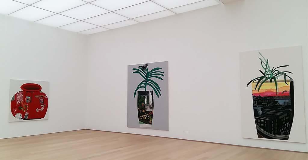 Shio Kusaka en Jonas Wood zaal-6-geschildrede-vazen-Museum-Voorlinden-foto-Wilma-Lankhorst