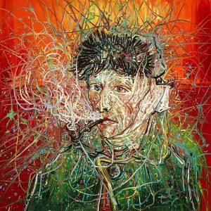 Zeng-Fanzhi-Van-Gogh-probeersel-campagne-beeld-Van-Gogh-Museum-gespiegeld