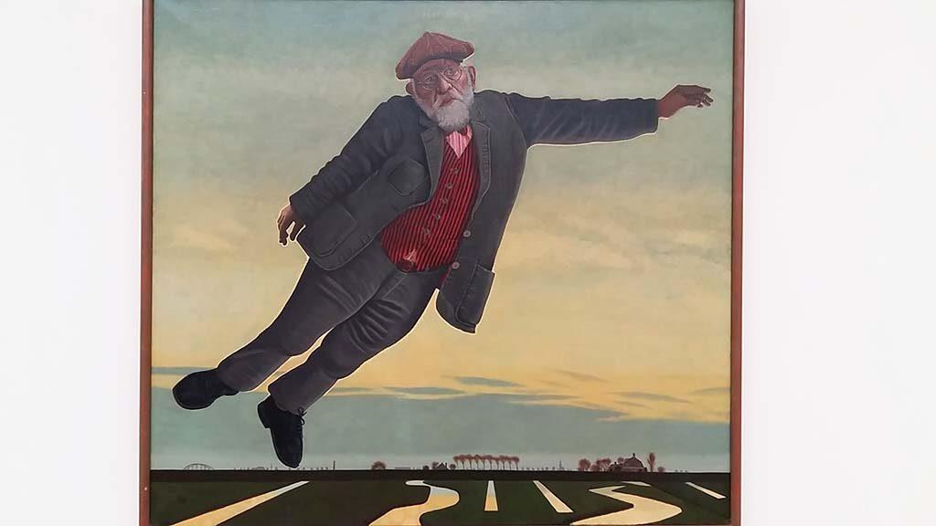 Hermanus-Berserik-zelfportret-boven-de-polder-1973-foto-Wilma-Lankhorst
