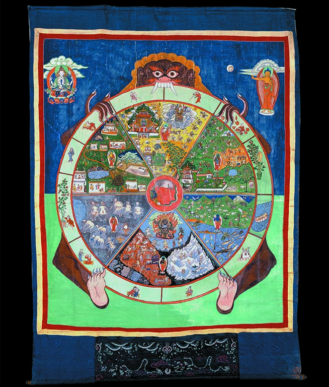 Leven-met-goden-Wheel-of-Life-or-painted-cloth