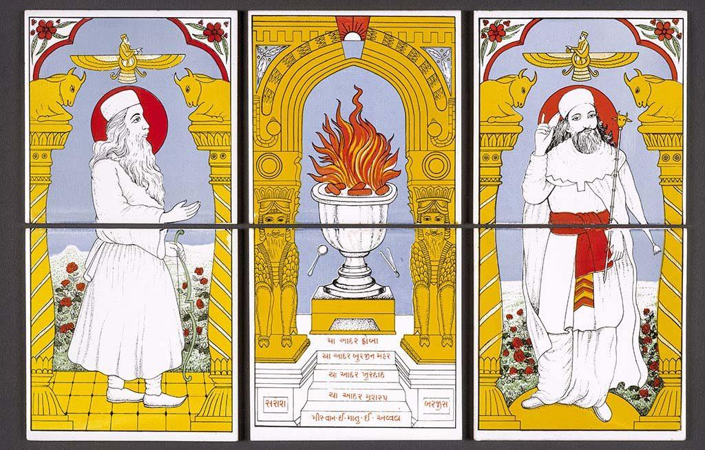 Leven met goden _-thema-vuur_-Zoroastrian-tiles-British-Museum