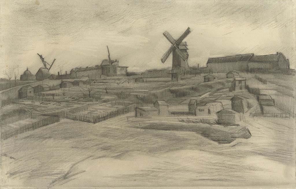 Vincent van Gogh De-heuvel-van-Montmartre-1886-©Vincent-van-Gogh-Stichting