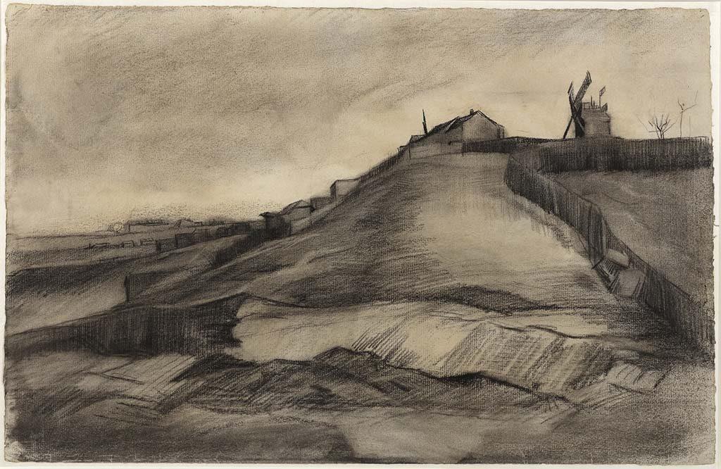Vincent van Gogh De-heuvel-van-Montmartre-met-steengroeve-maart-1886-©Van-Vlissingen-Art-Foundation