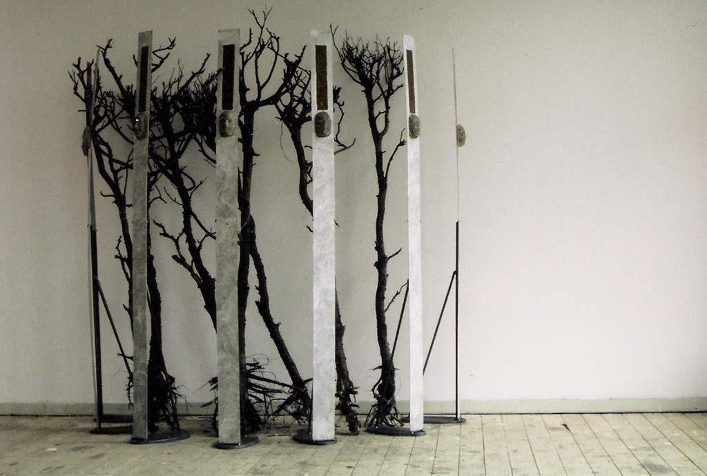 Adrie_Arendsman_installatie-mix-media-oude-takken-ijzer-en-keramiek-2002