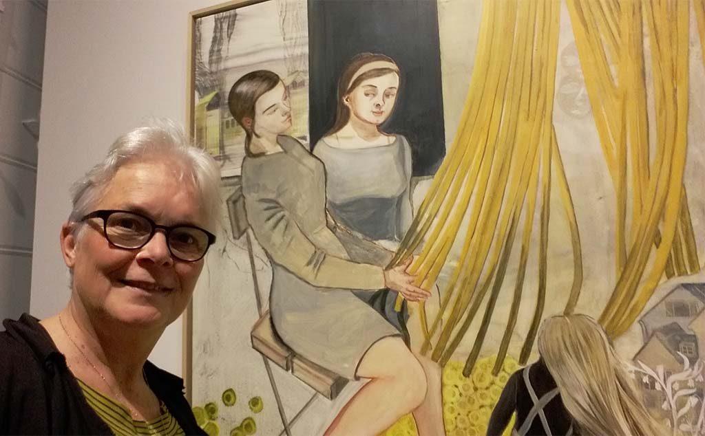 Voorjaarsvakantie Rosa-Loy-met-Bilder-Bergen-in-het-Drents-Museum-selfie-Wilma-Lankhorst