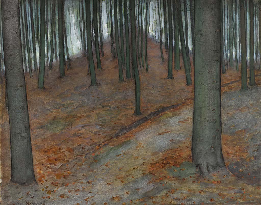 Piet Mondriaan _Bos-1899.-Collectie-Gemeentemuseum-Den-Haag