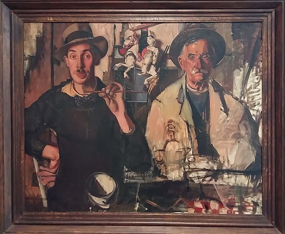 Nationale Museumweek 2018 Dubbelportret-schilder-en-zijn-vader-1939-40-©Dick-Ket-coll-Museum-Arnhem-foto-Wilma-Lankhorst