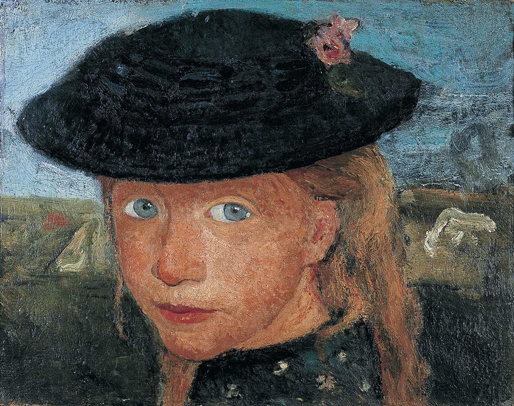 Paula Modersohn Becker Portret-van-een-jong-meisje-met-strohoed-1904.-Von-der-Heydt-Museum-Wuppertal.