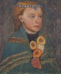 Worpswede en Parijs Paula-Modersohn-Becker-LR_-Meisje-met-blauwwitte-ketting-in-haren-1903-coll.-Von-der-Heydt-Museum-Wuppertal