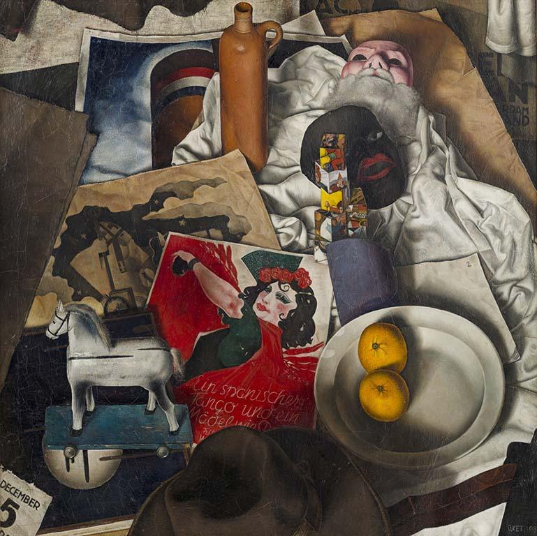 de-serene-blik-Dick-Ket-Sint-Nicolaas-stilleven-1933-coll-Museum-Arnhem