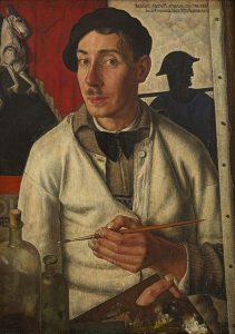de-serene-blik-Dick-Ket-Zelfportret-met-baret-1933-coll-Museum-Arnhem.