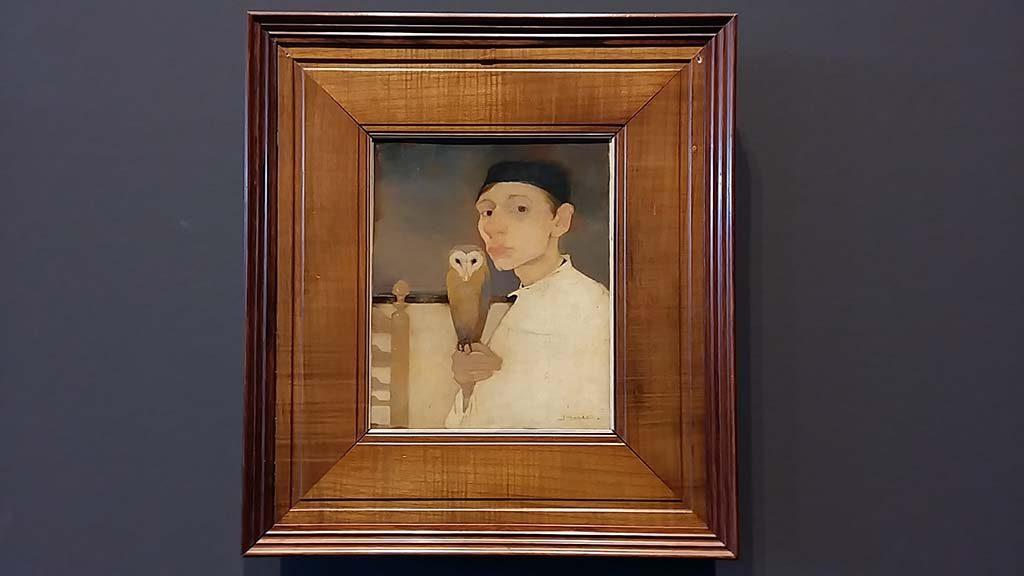 vier-realisten-Jan-MAnkes-zelfportret-met-uil-1911-coll-Museum-Arnhem-foto-Wilma-Lankhorst.