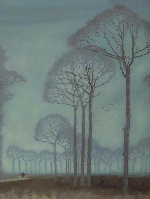 vier-realisten-Jan-Mankes-Bomenrij-1915-Collectie-Museum-MOR