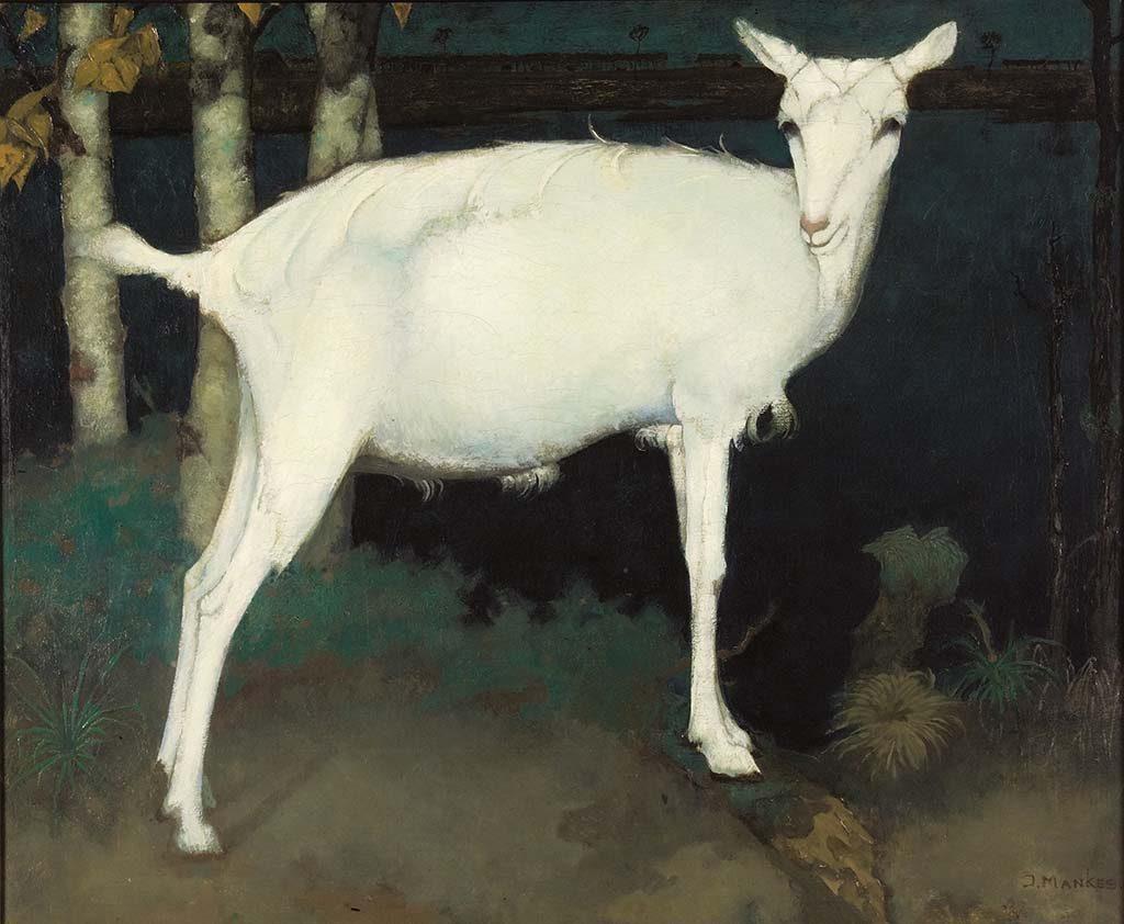 vier-realisten-Jan-Mankes-Jonge-witte-geit-1914-coll-Museum-Arnhem