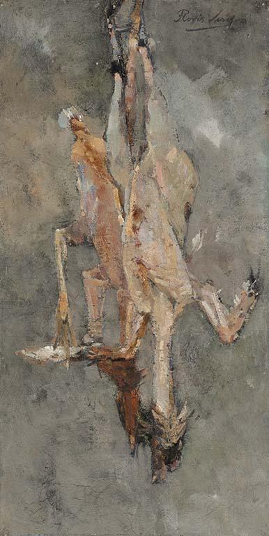 vier realisten Floris-Verster_-Geplukte-hanen-1891-coll-Haags-Gemeentemuseum