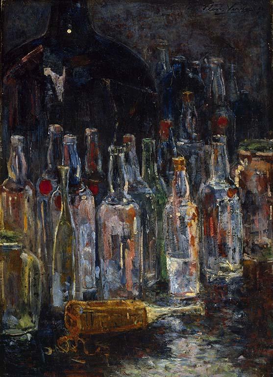vier realisten Floris-Verster-Stilleven-met-flessen-1892-coll-Kröller-Müller-Museum