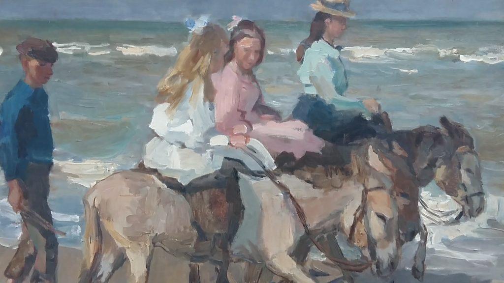 Isaac-Israels-1865-1934-ezeltjes-aan-het-strand.