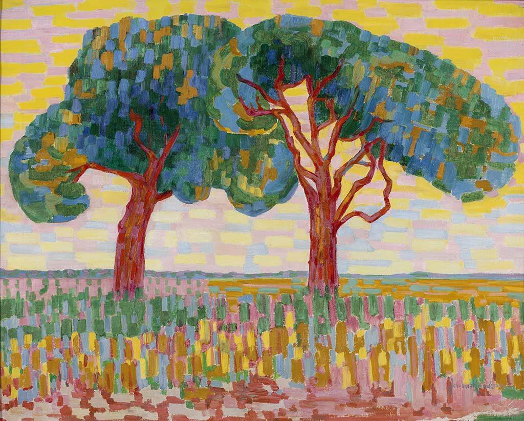 Jacoba-van-Heemskerck-twee bomen 1876-1923-Twee-bomen-1908-1910-coll.-Gemeentemuseum-Den-Haag.