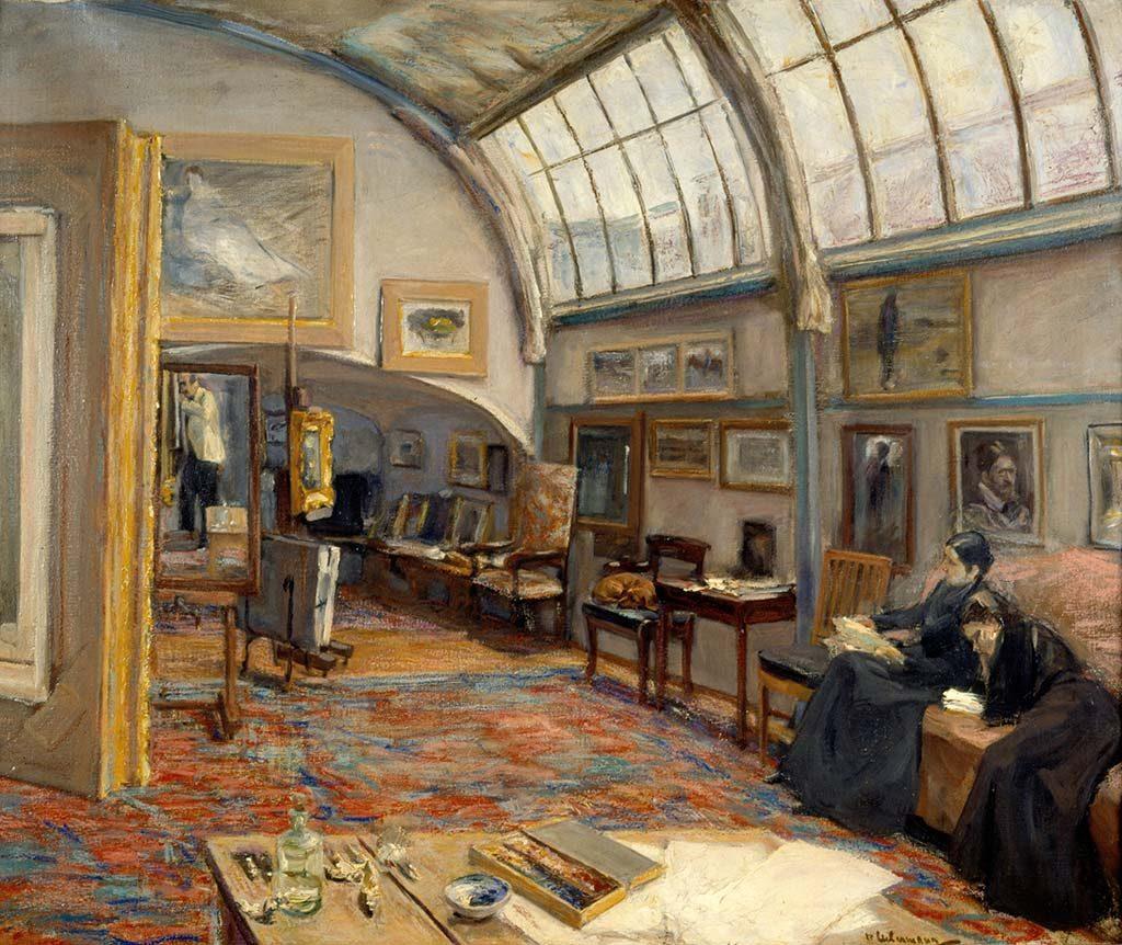 Max Liebermann -Het-atelier-van-de-kunstenaar-1902-coll-Kunstmuseum-St.-Gallen